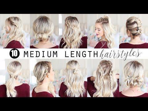 1 Min Everyday Hairstyles For Work With Puff Easy Braids Updo For Long Medium Hair Youtube Kapsels Opgestoken Kapsels Haarstijlen