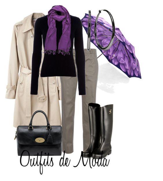 Días de Lluvia by outfits-de-moda2 on Polyvore featuring moda, Balenciaga, Carven, SuperTrash, Mulberry, Daisy Fuentes, Aspinal of London and PASHMINA ART