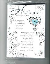 Gift For Husband 25th Wedding Anniversary : for Husband ... WEDDING ANNIVERSARY CARD TO MY HUSBAND (25th WEDDING ...