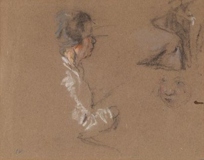 Edouard Vuillard, preparatory drawing, pastel on paper.