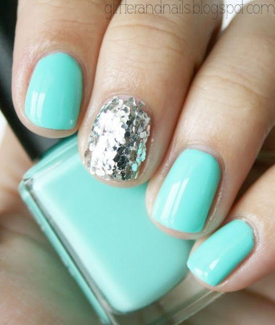Tiffany colored nails