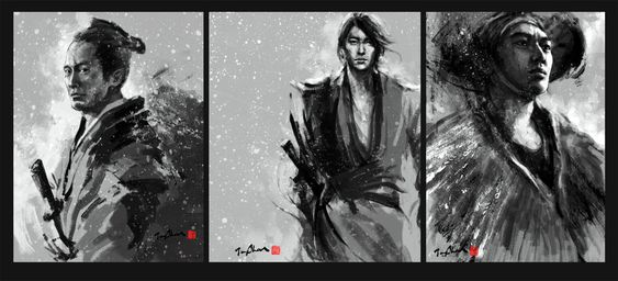 ''YUKI'' by Jungshan/ Digital Art / Drawings & Paintings / People / Portraits©2011-2014 Jungshan, This is my samurai series Yuki's characters. There are will have more action and drawing in my own blog. Here is the process, sketch.