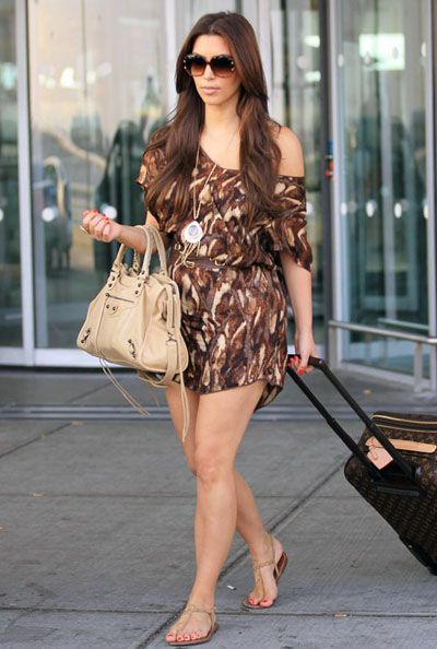 cute casual outfit for summer- vacation. brown romper with nude ...