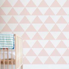pépinière papier peint motif de papier peint de conception de mur triangles de motif géométrique