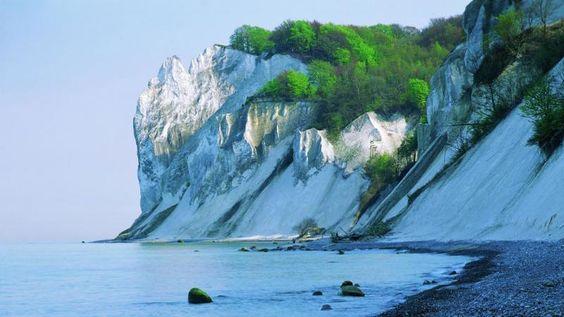 Møns Klint in Denmark is a 6km long chalk cliff on the island of Møns.
