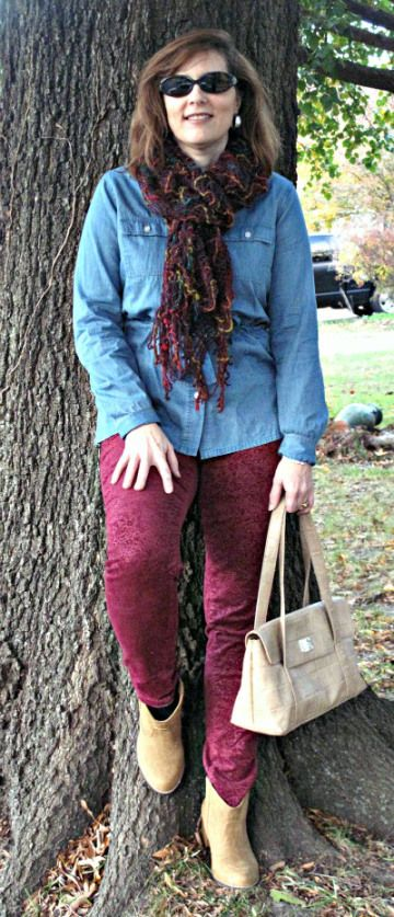 IMG_2538 Burgundy Cords and Chambray Over 40 Pettie Blogger Weight Watcher:
