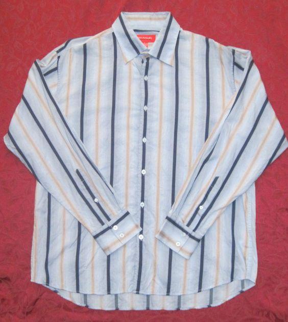 ungaro blue shirt xl dress shirt blue striped dresses david becker ...