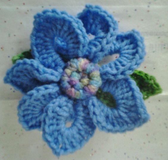 Crocheted Brooch/Corsage/Pin Periwinkle Flower Motif by daddydan, $3.95
