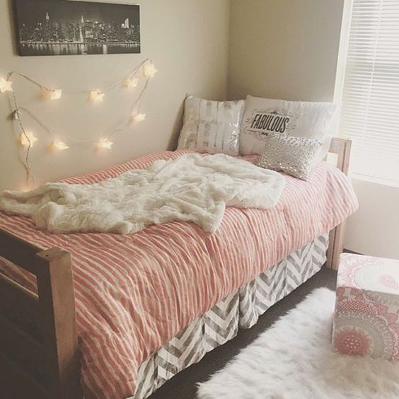 The White Grey And Chic Dorm On Pinterest