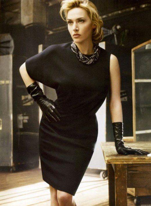 Kate Winslet for St. John's classy little black dress