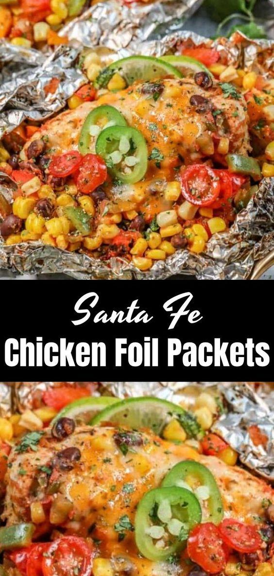 Santa Fe Chicken Foil Packets
