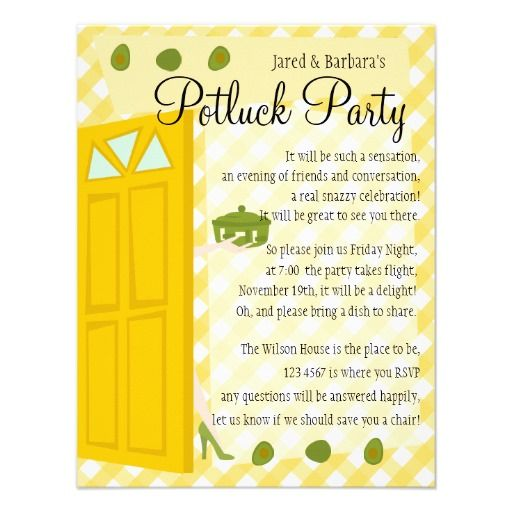 Office Potluck Invitation Templates. Potluck Dinner Party Invite ...