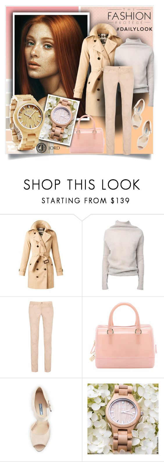"""""""Gift Idea"""" by sweetsely ❤ liked on Polyvore featuring Burberry, Rick Owens, Isabel Marant, Furla, Prada, Fieldcrest, polyvoreeditorial and jord"""