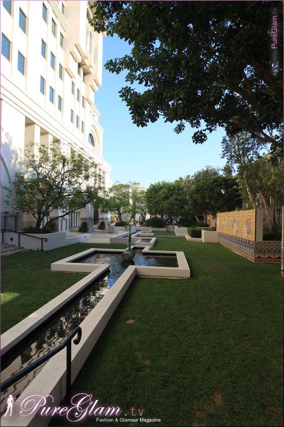 The Westin Pasadena Hotel – beautiful backyard - Los Angeles, LA, California, USA