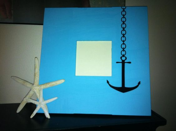 Nautical Picture Frame. Handmade by www.LuckyBean33.etsy.com