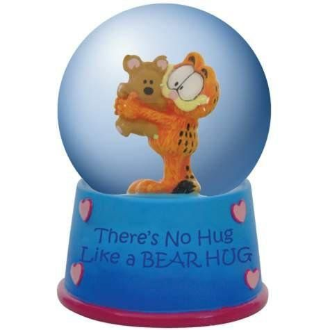 45mm Water Globe There's No Hug Like A Bear Hug Garfield Figurine by StealStreet. $21.99. This gorgeous 45mm Water Globe There's No Hug Like A Bear Hug Garfield Figurine has the finest details and highest quality you will find anywhere! 45mm Water Globe There's No Hug Like A Bear Hug Garfield Figurine is truly remarkable.45mm Water Globe There's No Hug Like A Bear Hug Garfield Figurine Details:Condition: Brand NewItem SKU: SS-WL-15953Dimensions: Statue: H: 45 (mm)Crafted with: Resin