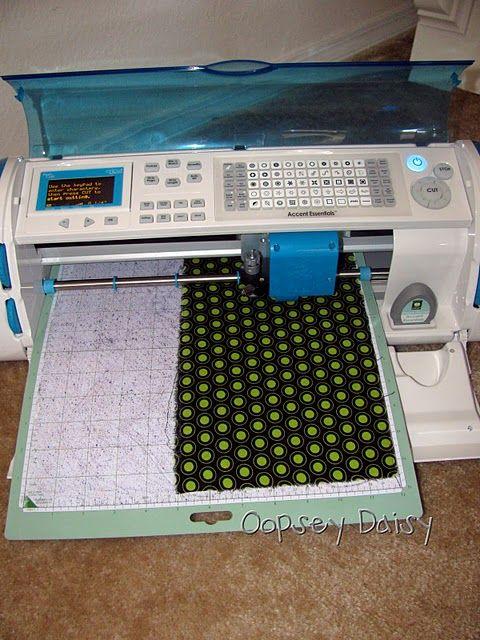 Cutting fabric with cricut.