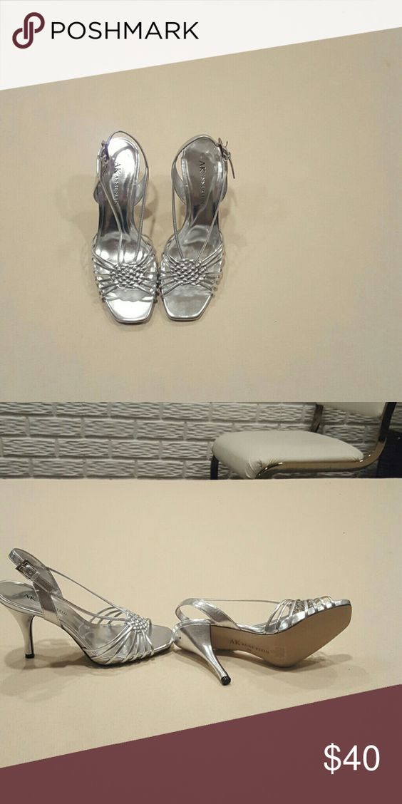 Anne Klein silver heels Brand new never worn Anne Klein Shoes Heels