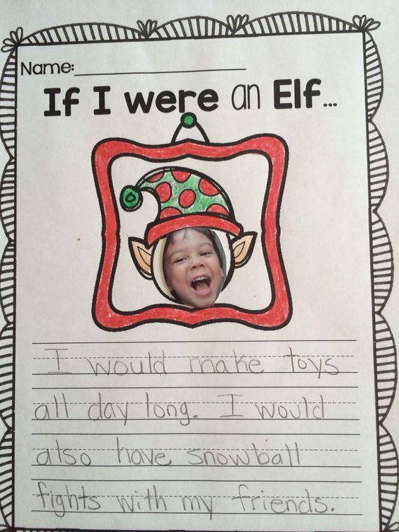 elf application writing activity