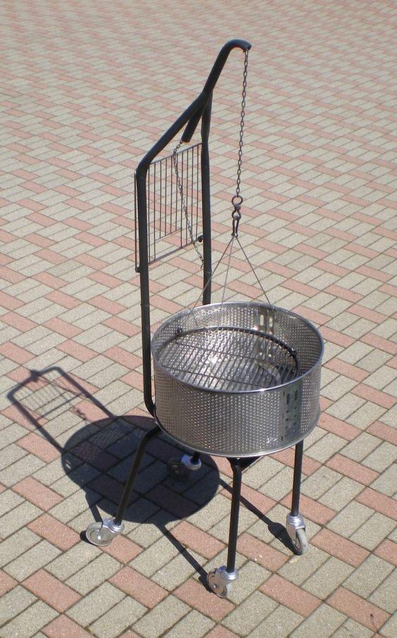 Montage Du Barbecue Avec Tambour De Machine A Laver