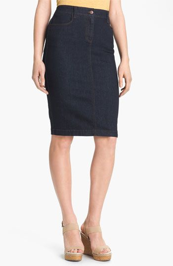 Eileen Fisher Stretch Denim Skirt available at #Nordstrom | Want ...