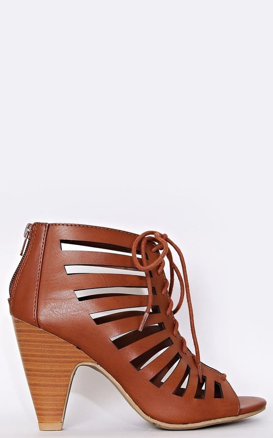 Tie Me Down Caged Heels - New Arrivals