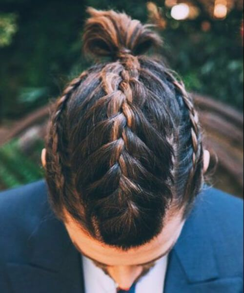 Ombre Three French Braids Viking Hairstyles Mens Braids Hairstyles Cool Braid Hairstyles Braids For Short Hair