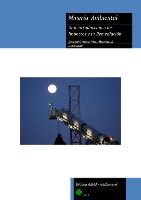 Resultado de imagen de Minería Ambiental: Una Introducción a los Impactos y su Remediación