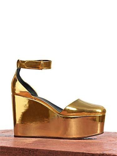 Soda Jozy Penny Metallic Flatform Wedge Sandals | Colors, Rose ...