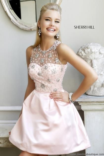 Sherri Hill Short Homecoming Dress 21323 at Peaches Boutique