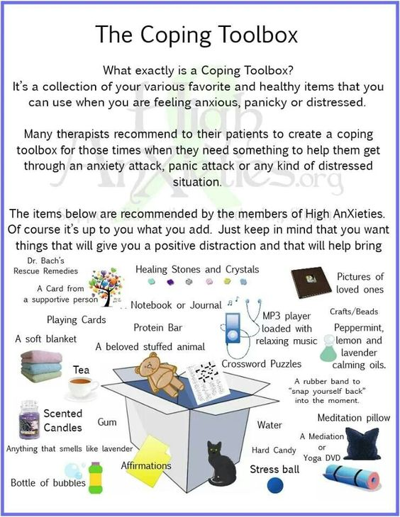 Coping Toolbox Infographic for Anxiety / Stress , etc.
