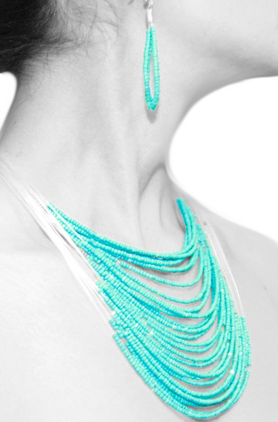 Ladies' Multi-Layer Necklace and Earring Set
