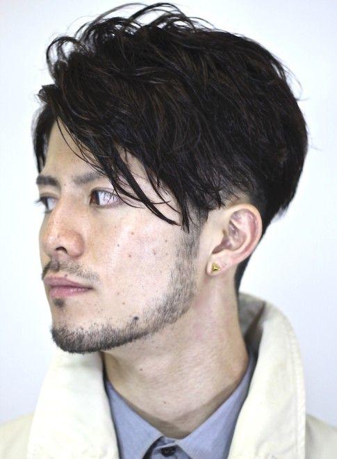 メンズ 大人ツーブロック前下がりショート Gokan Omotesando の髪型
