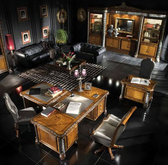 Upscale Home Office Furniture: Luxury Office, Office Furniture And Cubicles On Pinterest