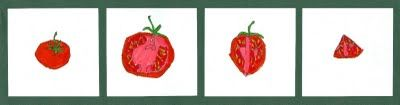 Look Eat Draw Project | Art for Small Hands  Tomato. Age 11
