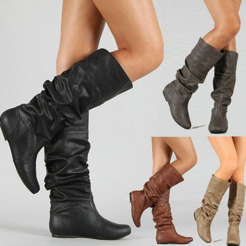 Women's Shoes,Boot,Flat Heel PU Winter