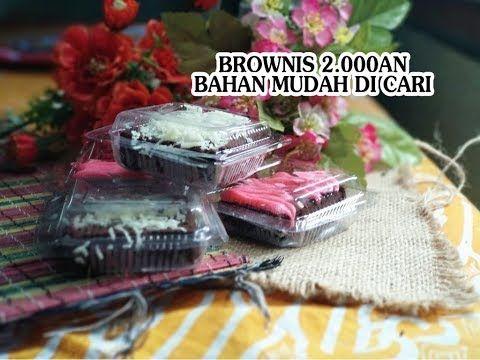 Resep Brownies Mini Untuk Jualan Modal Kecil Untung Banyak Youtube Brownis Brownies Resep