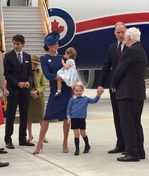 The Royals land in Canada as part of a royal tour: