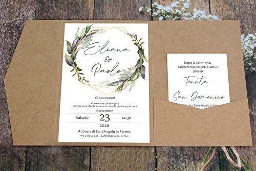 Partecipazioni Matrimonio Personalizzate Inviti Nozze Pocketfold Greenery Carta Kraft 10 Pezzi Cesana Like Photo Nel 2020 Matrimonio Personalizzato Nozze Carta Kraft
