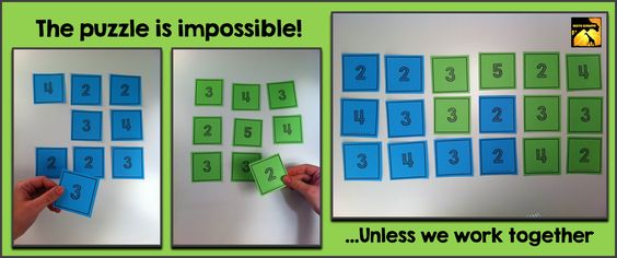 Perfect for the first day of school!! - Team Building Puzzle Activity for Math Class