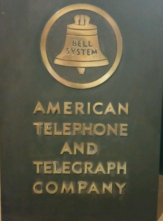 Vintage American Telephone And Telegraph Company Sign