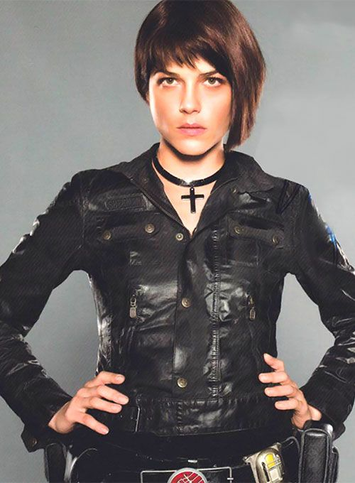 Selma Blair Hellboy 2 The Golden Army Leather Jacket Leathercult Com Leather Jeans Jackets Suits In 2020 Liz Sherman Leather Jacket Golden Army
