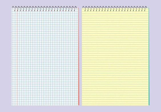 Vector Notebook Patterns  LinedJournalWritingPaperCard