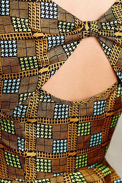 Kakum Flared Silk Dress - anthropologie.com