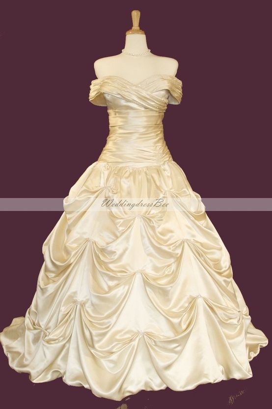 Wedding Dress Ideas ... Beauty and the Beast Dress! - Click image to find more Weddings Pinterest pins