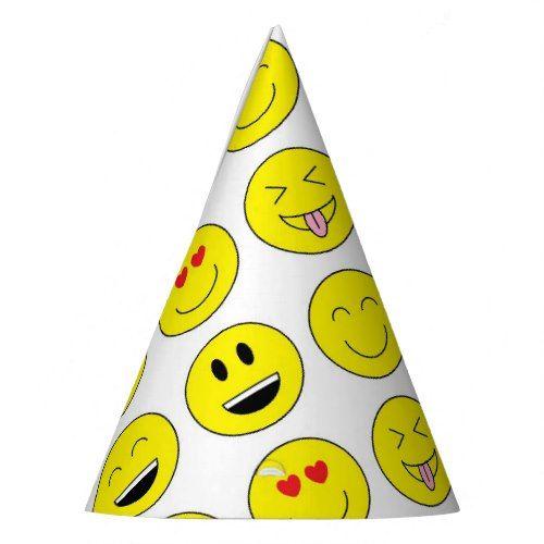Emojis Party Hats Zazzle Com Emoji Party Emoji Birthday Party Emoji Birthday