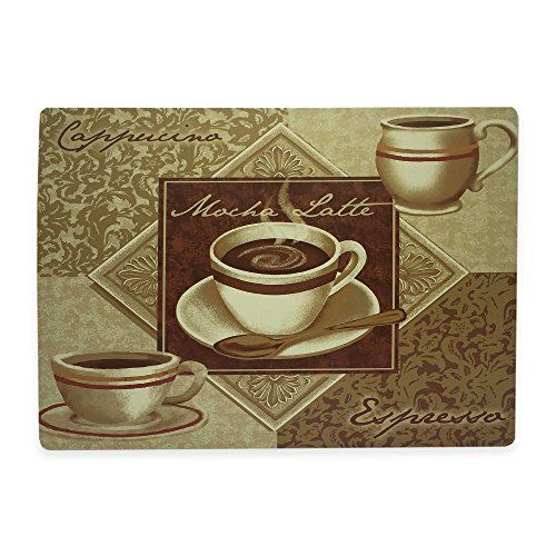 Morgan Home Mocha Latte Coffee Laminated Foam Backed Placemats Set Of 4 Mocha Latte Mocha Fun Cup