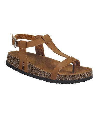 Look at this #zulilyfind! Tan Buckle Melbourne Sandal by Nature Breeze #zulilyfinds