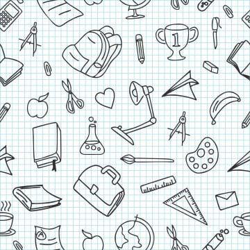 المدرسة نمط سلس خربش مع خربش قلم كيس Png والمتجهات للتحميل مجانا Ideias Do Doodle Padroes Do Doodle Lampada Desenho