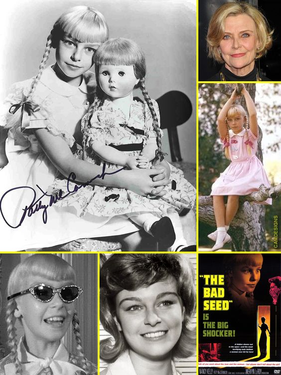 Patty McCormack (born August 21, 1945) is an American actress with a career in theater, films & TV. She achieved success as a child actress, and received a nomination for an Academy Award for Best Supporting Actress for her performance in The Bad Seed (1956). Her acting career has continued with supporting roles in film and television, including a more recent performance as Pat Nixon in Frost/Nixon (2008). Her star on the Hollywood Walk of Fame is at 6312 Hollywood Blvd.